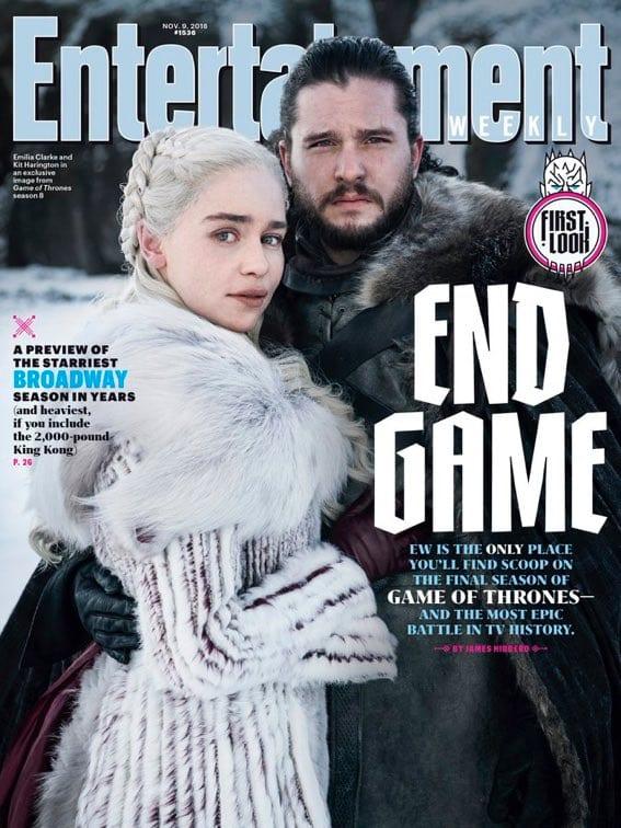 EW ofrece su primer vistazo a la temporada 8 de Game of Thrones con una nueva portada