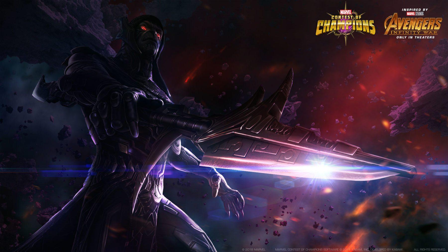 El teniente de Thanos Corvus Glaive se une al Concurso de Campeones de Marvel