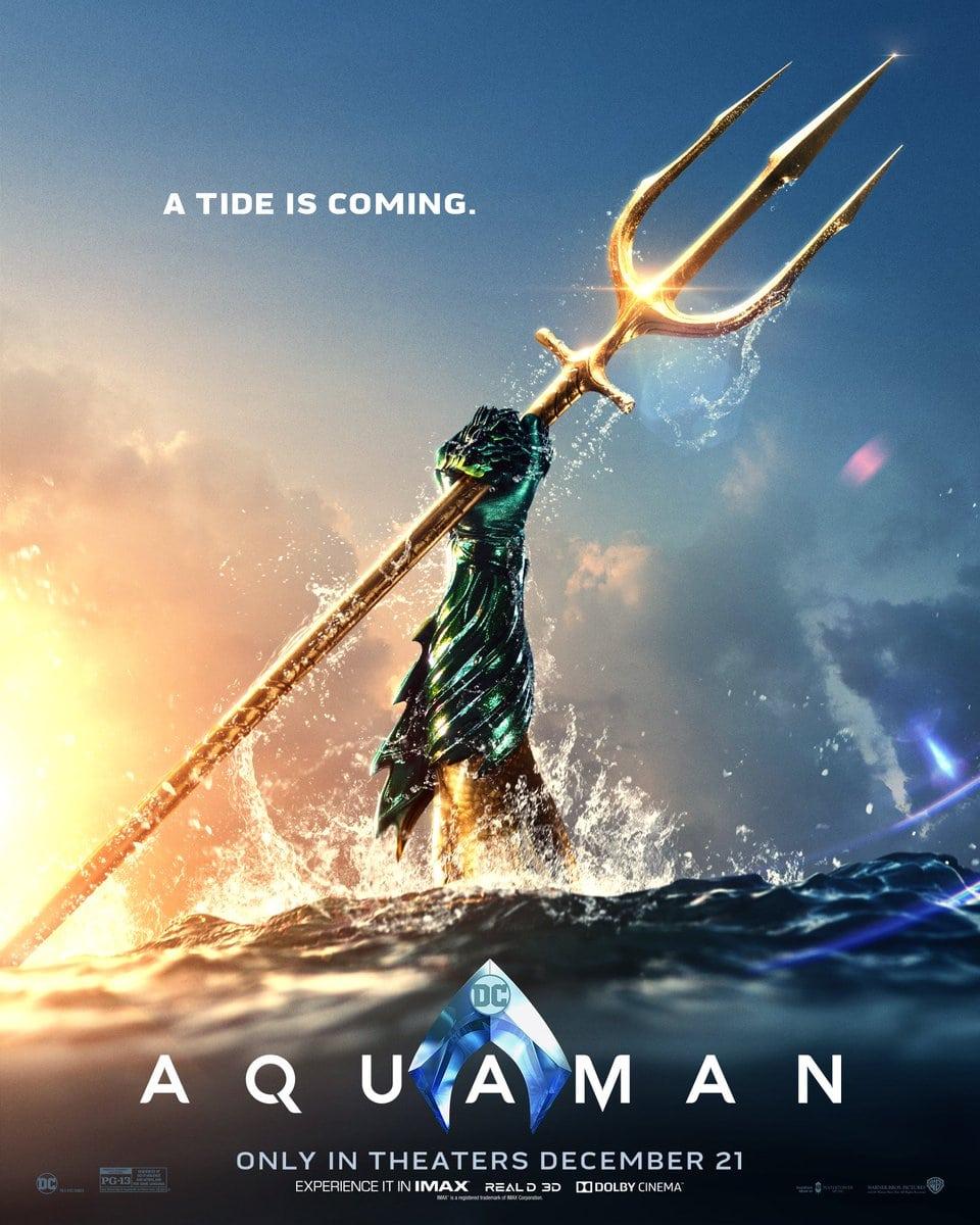 James Wan revela un nuevo póster de Aquaman, ¿se burla del nuevo trailer del viernes?