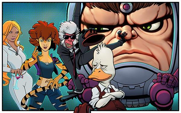 Marvel y Hulu anuncian la serie animada para adultos Howard the Duck, MODOK, Hit-Monkey, Tigra & Dazzler