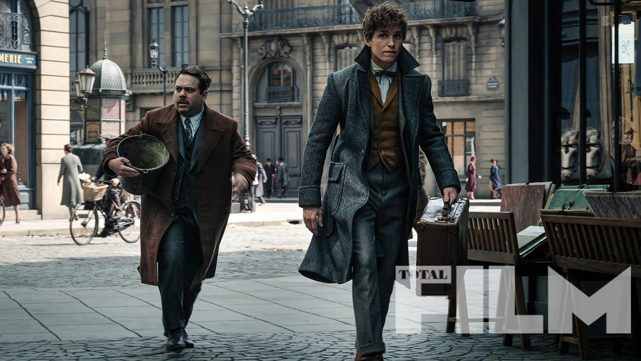 La imagen de Animales fantásticos: los crímenes de Grindelwald presenta a Newt Scamander y Jacob Kowalski