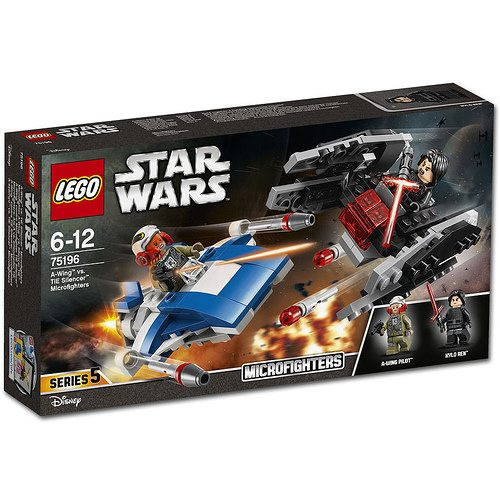 LEGO-Star-Wars-A-Wing-vs.-TIE-Silencer-Microfighters-75196