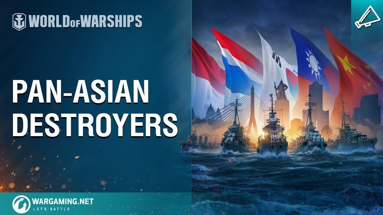 Destructores panasiáticos en camino a World of Warships