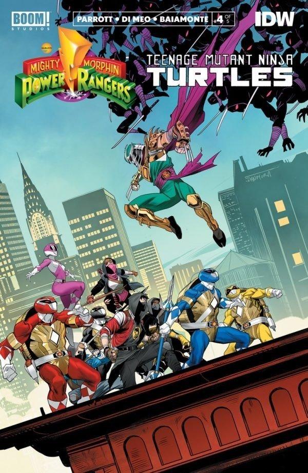 Revisión de cómic - Mighty Morphin Power Rangers / Teenage Mutant Ninja Turtles # 4