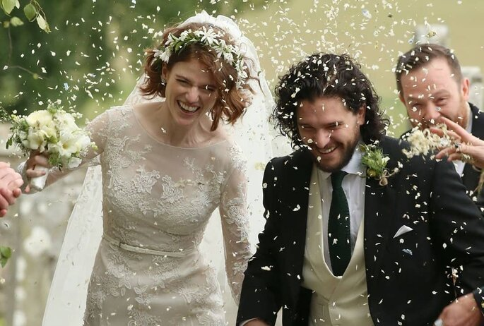 ¡Kit Harington y Rose Leslie se casaron!