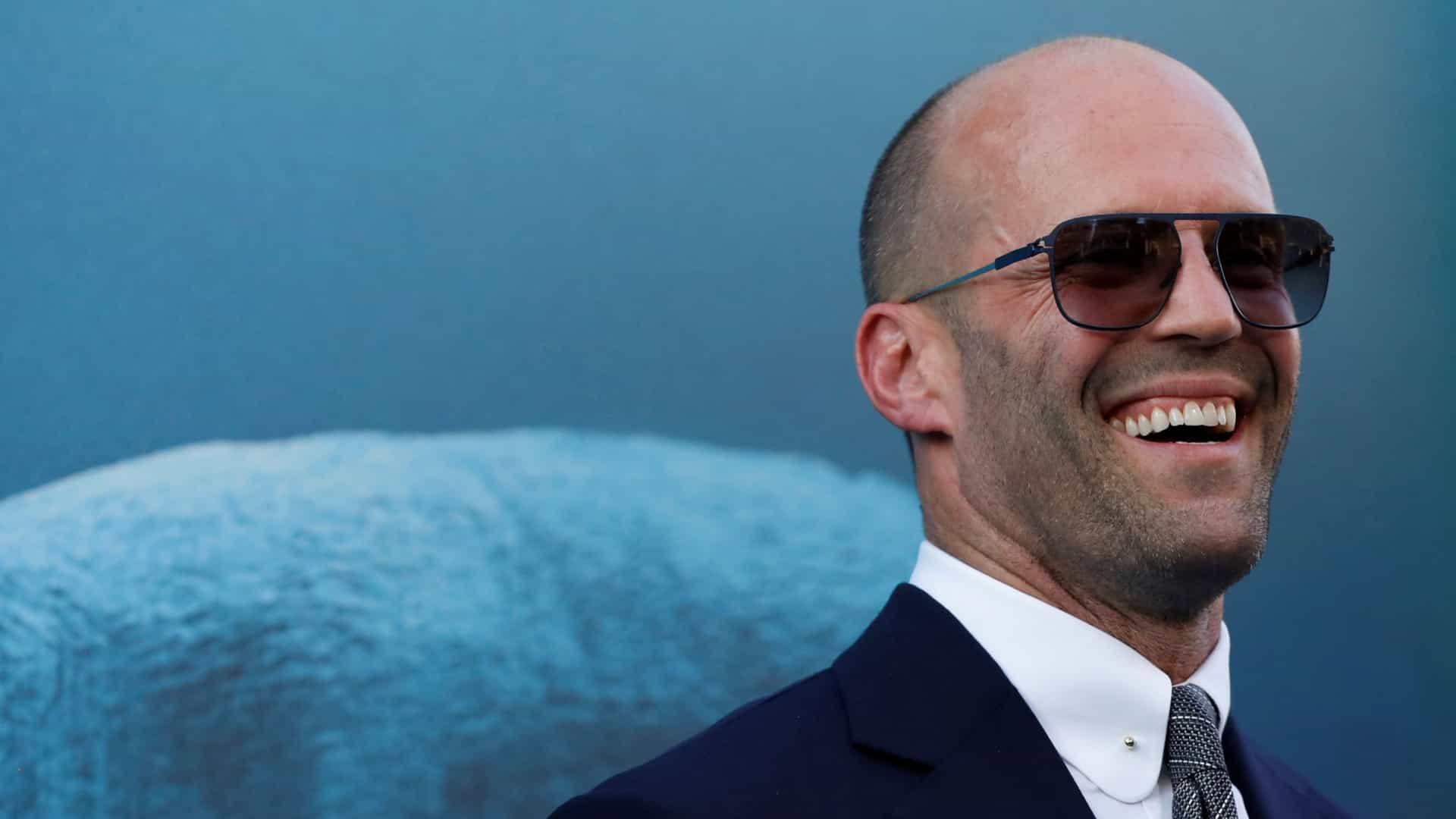 Padre amoroso: Jason Statham 'atrapado' con su hijo