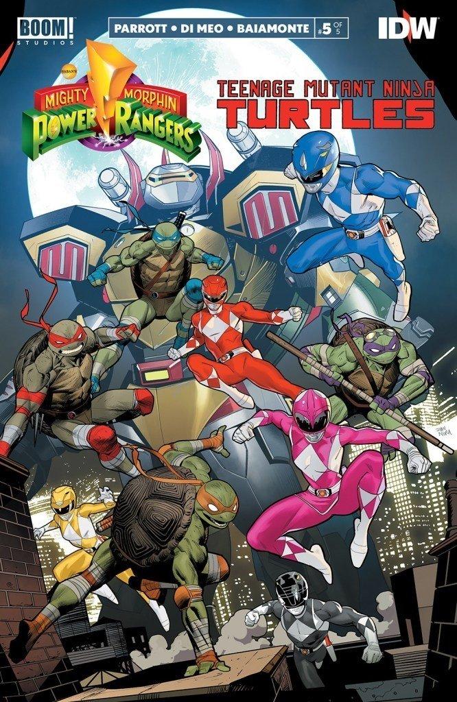 Revisión de cómic - Mighty Morphin Power Rangers / Teenage Mutant Ninja Turtles # 5
